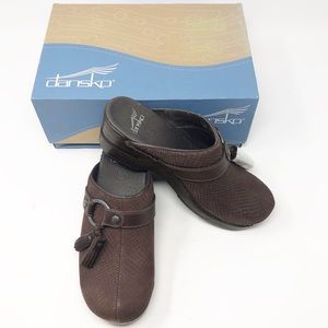 NEW DANSKO Shandi Snake Brown Clog-Size 6